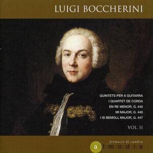 Luigi Boccherini: Quintets per a Guitarra i Quartet de Corda en Re Menor, G. 445; Mi Major, G. 446 i Si Bemoll Major, G. 447