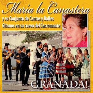 María la Canastera y Su Conjuto de Cantos y Bailes Gitanos en Su Cueva del Sacromonte de Granada