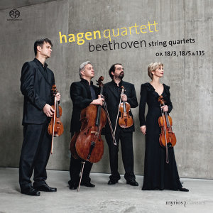 Beethoven String Quartets op. 18/3, 18/5 and 135
