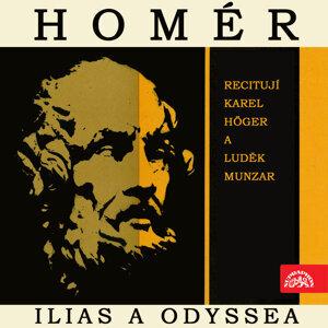 Homér:  Ilias a Odyssea. Výběr zpěvů z básnických eposů řeckého starověku