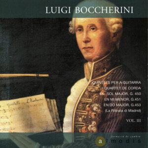 Luigi Boccherini: Quintets per a Guitarra i Quartet de Corda en Sol Major, G. 450; Mi Menor, G. 451 i Do Major, G. 453