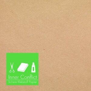 Schere Klebstoff Papier
