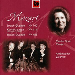 Mozart: String Quartet No. 7 in E-Flat Major, K. 160 - Piano Cocerto No. 12 in A Major, K. 414 - String Quartet No. 19 in C Major, K. 465