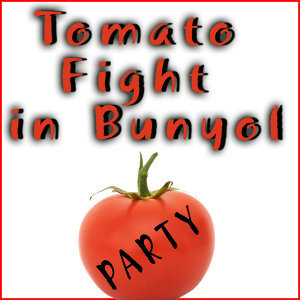 Tomato Fight in Bunyol. Tomatina. Spain Party Music