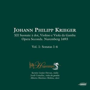 Johann Philipp Krieger XII Suonate à doi, Violino e Viola da Gamba. Opera Seconda. Nuremberg 1693 Vol. 1 Sonatas 1-6