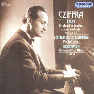 György Cziffra, Liszt, Johann Strauss II-Cziffra, Gershwin