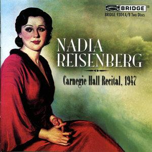 Nadia Reisenberg - Carnegie Hall Recital, 1947