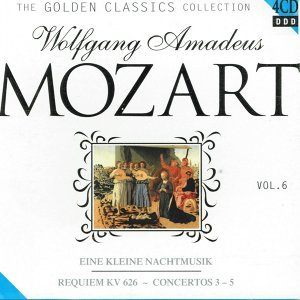 W. A. Mozart : Requiem Kv. 626 / Eine Kleine Nachtmusik divertimenti / Concertos for Flute, Harp and Orchestra / Concertos for Violin and Orchestra 3-5