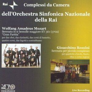 Wolfang Amadeus Mozart:Gran Partita Serenata in si bemolle maggiore KV 361 - Gioacchino Rossini: Serenata per piccolo complesso