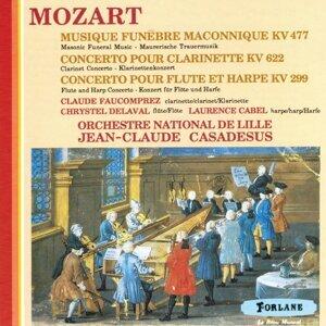 Wolfgang Amadeus Mozart : Musique funèbre maconnique - Concerto pour clarinette - Concerto pour flûte et harpe