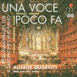 Una Voce poco Fa [Opera Paraphrases for 4 Saxophones and Piano]