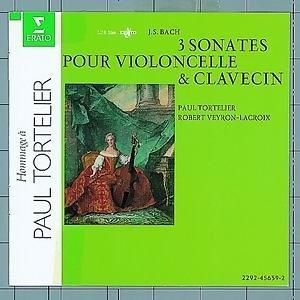 Bach : 3 sonatas for cello and harpsichord