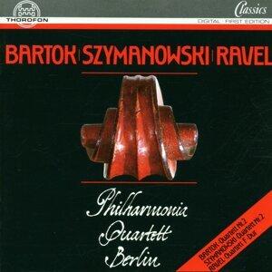 Bartok, Szymanowski, Ravel