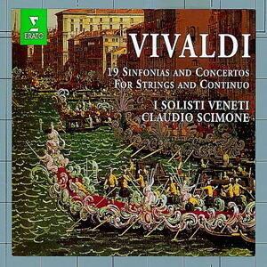 Vivaldi : 19 Sinfonie et Concertos pour orchestre et continuo