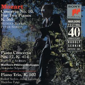 Mozart: Concerto No. 10 for Two Pianos and Orchestra, K. 365; Concerto for Piano and Orchestra, K. 414; and Trio for Piano, Violin and Cello, K. 502