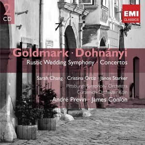 "Goldmark: Symphony No. 1, ""Rustic Wedding"" & Violin Concerto - Dohnányi: Variations on a Nursery Song"
