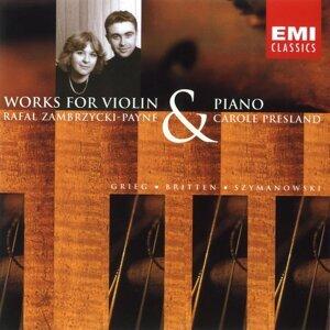 Szymanowski/Britten/Grieg: Violin Sonatas