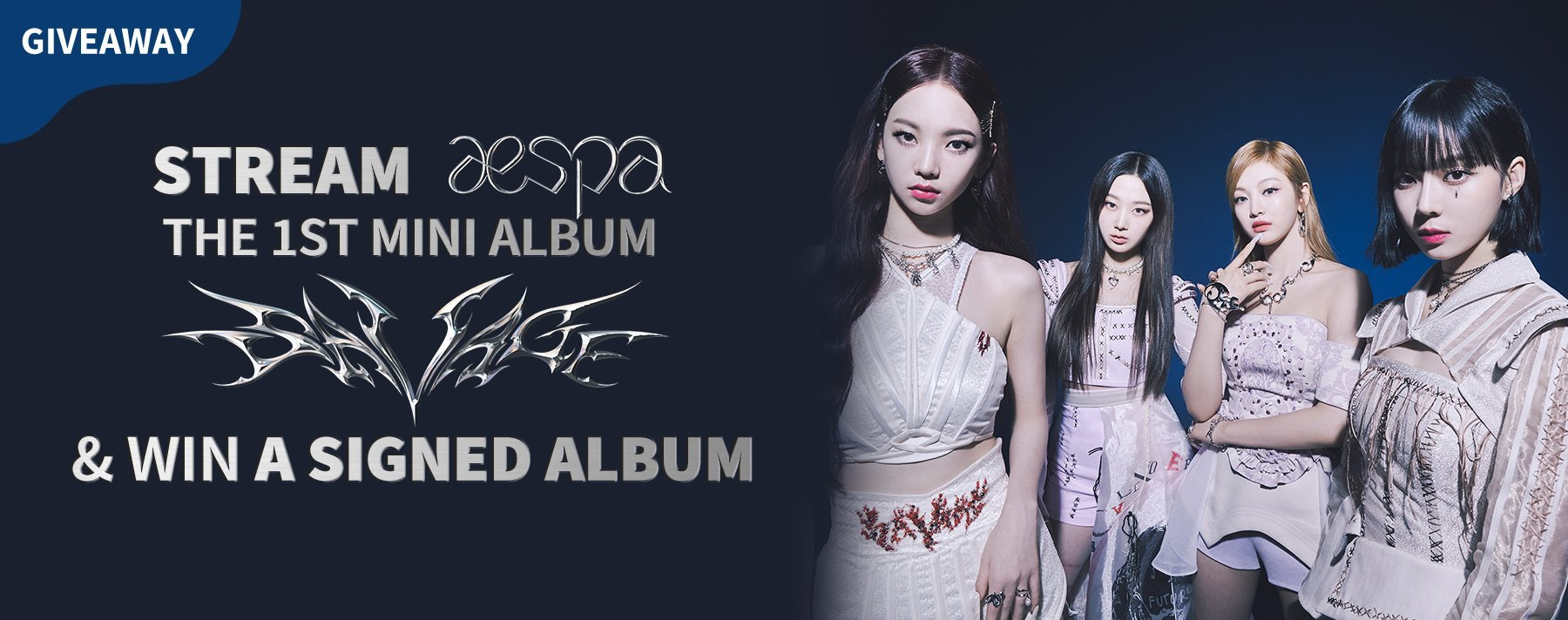 Stream To Win | aespa Autographed Album