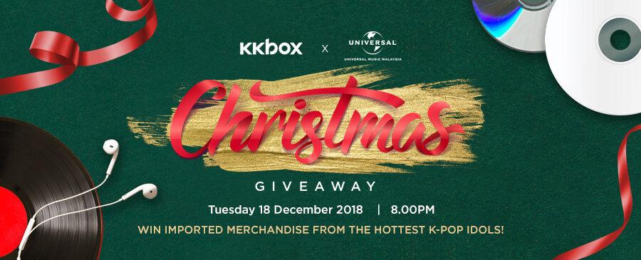 KKBOX x Universal Music Christmas Giveaway 2018