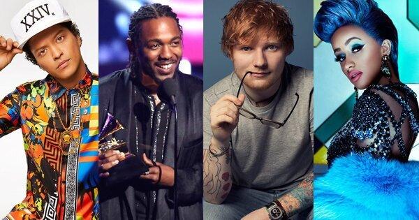 天王爭霸戰!Billboard音樂獎Bruno Mars、Ed Sheeran誰會勝出?