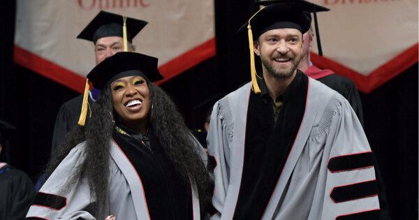 賈斯汀與蜜西艾莉特獲頒榮譽博士!她哽咽:「只要還有一口氣,就不放棄」