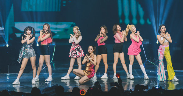 K-pop Girl Group Twice Puts On A Colourful Show In Singapore