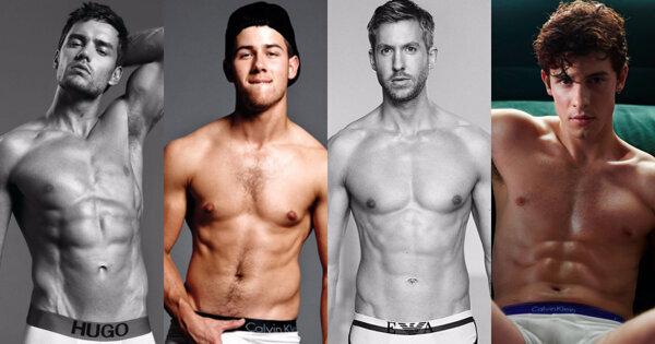8 位西洋男歌手性感秀肌卖内裤,你爱哪一包?