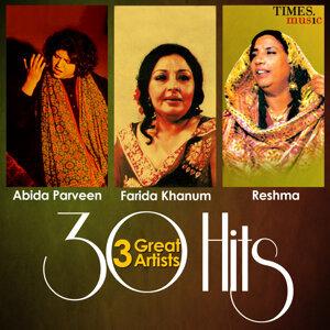 Abida Parveen, Farida Khanum, Reshma 歌手頭像