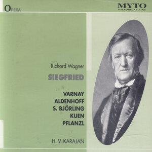 Bernd Aldenhoff, Astrid Varnay, Sigurd Björling, Paul Kuen, Heinrich Pflanzl, Ruth Siewert, Orchester der Bayreuther Festspiele 1951, Herbert von Karajan 歌手頭像