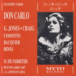 Gwyneth Jones, Charles Craig, Gabriel Bacquier, Fiorenza Cossotto, Jerome Hines, William Wildermann, Orchestra e Coro del Teatro Colon, Oliviero De Fabritiis 歌手頭像