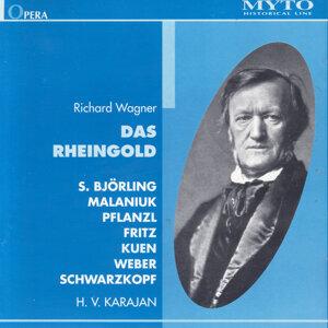 Sigurd Björling, Ira Malaniuk, Walter Fritz, Heinrich Pflanzl, Paul Kuen, Ludwig Weber, Orchester der Bayreuther Festspiele 1951, Herbert von Karajan 歌手頭像