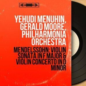 Yehudi Menuhin, Gerald Moore, Philharmonia Orchestra アーティスト写真
