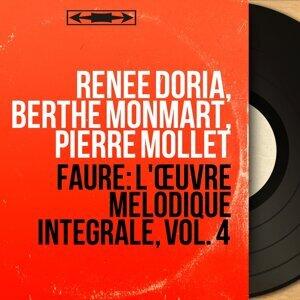 Renée Doria, Berthe Monmart, Pierre Mollet アーティスト写真