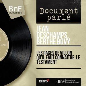 Jean Deschamps, Berthe Bovy 歌手頭像