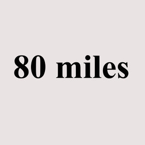 80 miles 歌手頭像