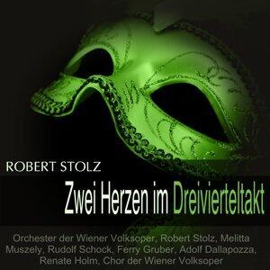 Orchester der Wiener Volksoper, Robert Stolz, Melitta Muszely, Rudolf Schock 歌手頭像