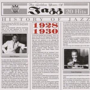 History Of Jazz 1928 - 1930 歌手頭像