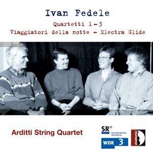 Rohan de Saram, Irvine Arditti, Graeme Jennings, Ralf Ehlers, Arditti String Quartet