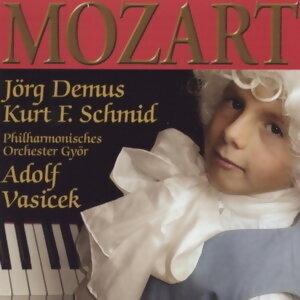Jorg Demus, Kurt F. Schmid, Philharmonic Orchestra Gyor, Dirigent: Adolf Vasicek アーティスト写真