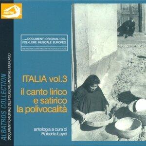 Italia Vol. 3: Il canto lirico e satirico, la polivocalità 歌手頭像