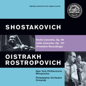 David Oistrakh, Eugene Ormandy, Mstislav Rostropovich, The Philadelphia Orchestra, Dimitri Mitropoulos 歌手頭像