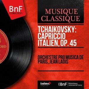 Orchestre Pro Musica de Paris, Jean Ladis 歌手頭像
