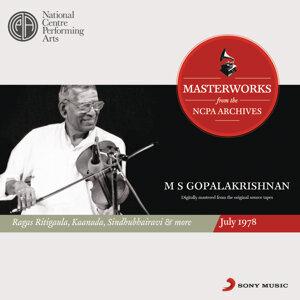 M S Gopalakrishnan 歌手頭像