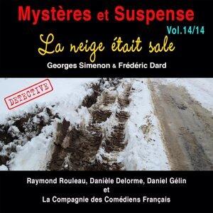 Raymond Rouleau, Danièle Delorme, Daniel Gélin, La Compagnie des Comédiens Français Foto artis