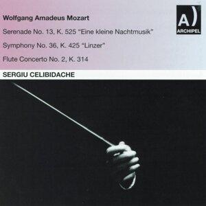 Orchestra Alessandro Scarlatti di Napoli della Rai, Sergiu Celibidache, Severino Gazzelloni Foto artis