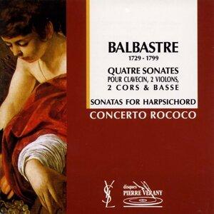 Le Concerto Rococo, Jean-Patrice Brosse, Nicolas Mazzoleni, Roberto Crisafulli, Antoine Ladrette, Dombrecht Pietr, Claude Maury Foto artis
