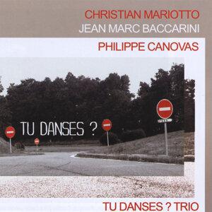 """""""tu Danses?"""" Trio Christian Mariotto/jean Marc Baccarini/philippe Canovas Foto artis"""