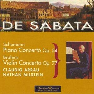 Victor De Sabata, Claudio Arrau, Nathan Milstein, New York Philharmonic Orchestra Foto artis