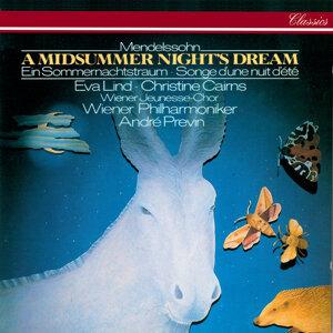 André Previn, Eva Lind, Christine Cairns, Wiener Jeunesse-Chor, Wiener Philharmoniker Foto artis