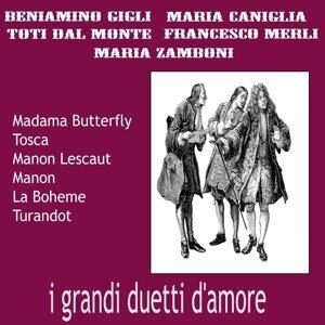 Beniamino Gigli, Toti Dal Monte, Umberto Berrettoni Foto artis